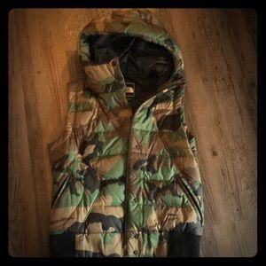 Women's Camo Northface Vest